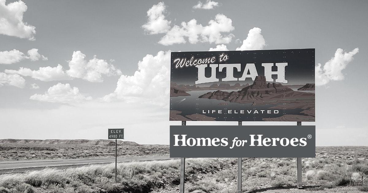 Homes for Heroes is in Utah highway sign