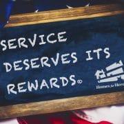 Service Deserves Its Rewards Chalkboard