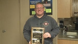 Brenden Goodman of Clay Fire receives Hero of the Month Award