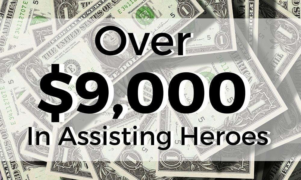 $9,000 to help heroes