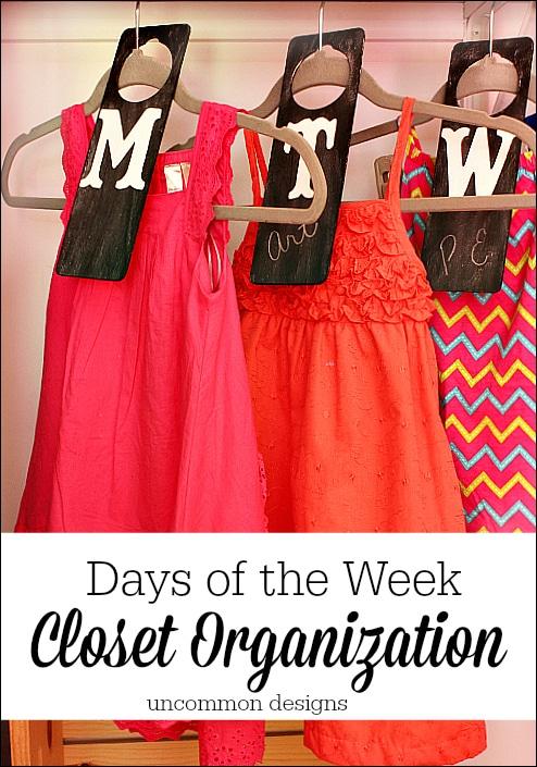 Days Of The Week Closet Organizer