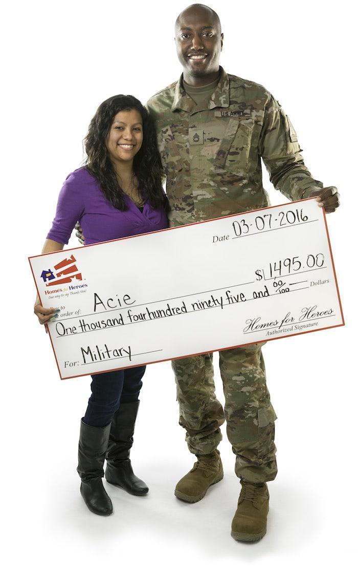 Military Hero Rewards Check
