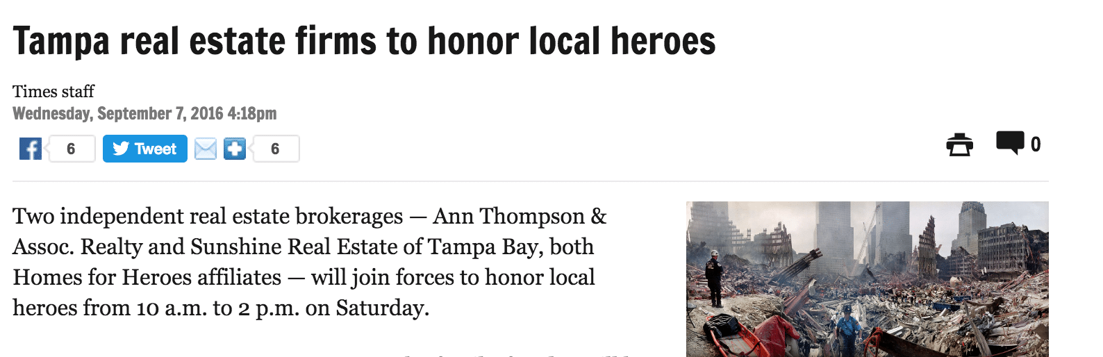 Tampa Affiiliates Team Up To Honor Heroes