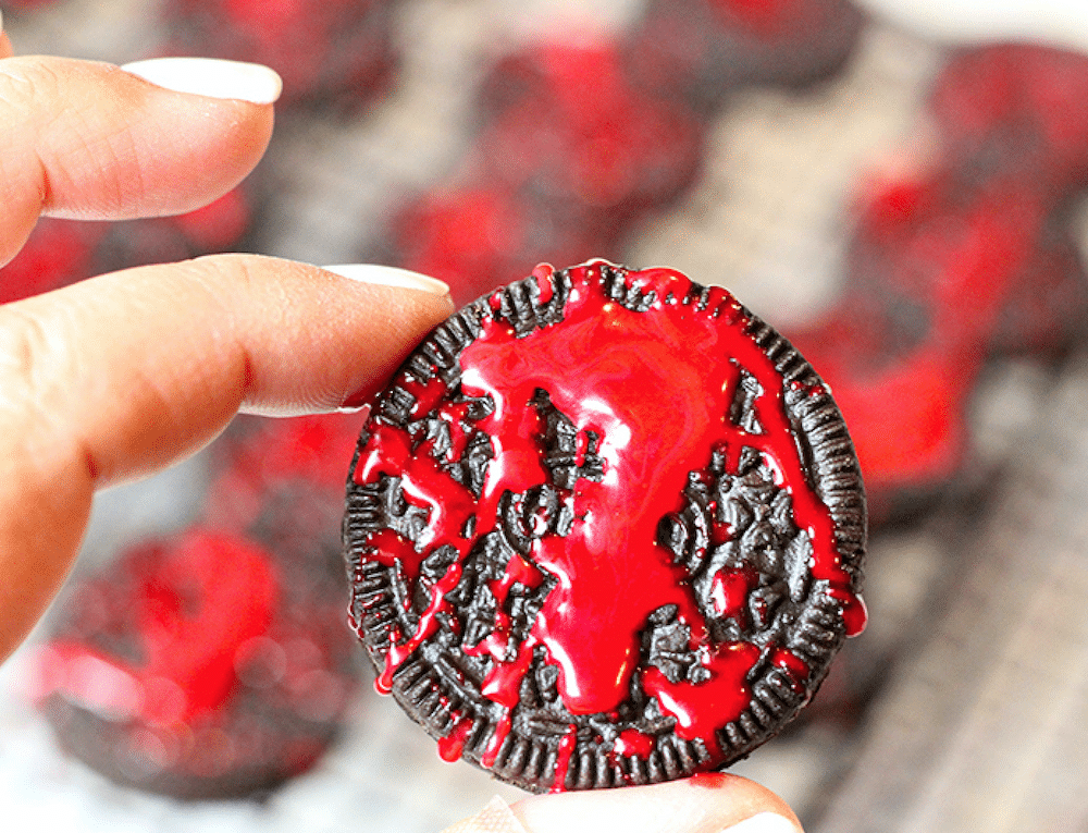 Blood Spatter Oreos