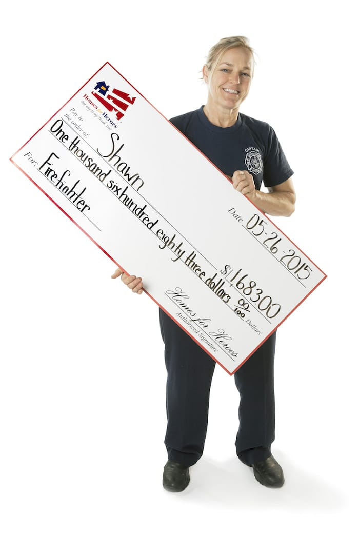 Firefighter with Hero Rewards Check