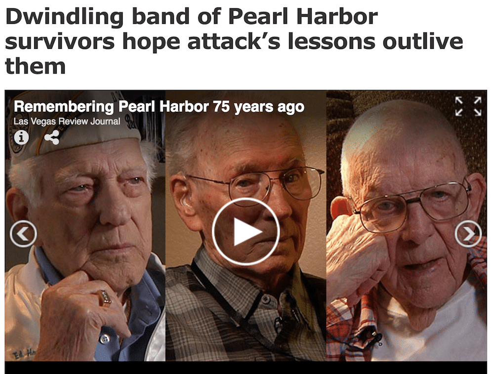 Las Vegas Review-Journal: Pearl Harbor Survivors
