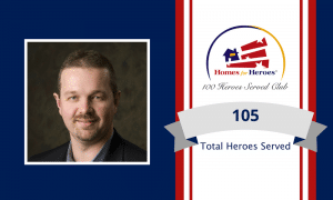Chris Gettys joins the 100 heroes served club by serving 105 heroes