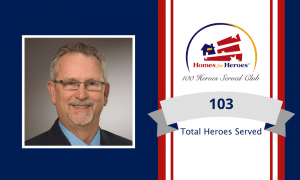 Mike Stover joins the 100 heroes served club by serving 103 heroes