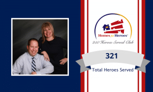 Brandon Johnson and Heidi Voigt new inductee into the 250 heroes served club by serving 319 heroes