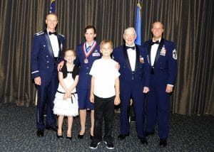 Air National Guard, Sergeant Booe, with her two children