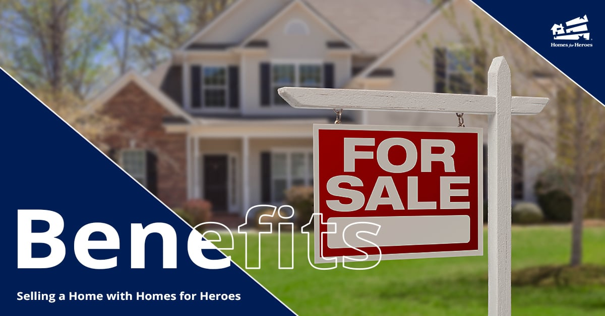 Red for sale sign in the foreground with a white single family home in the background