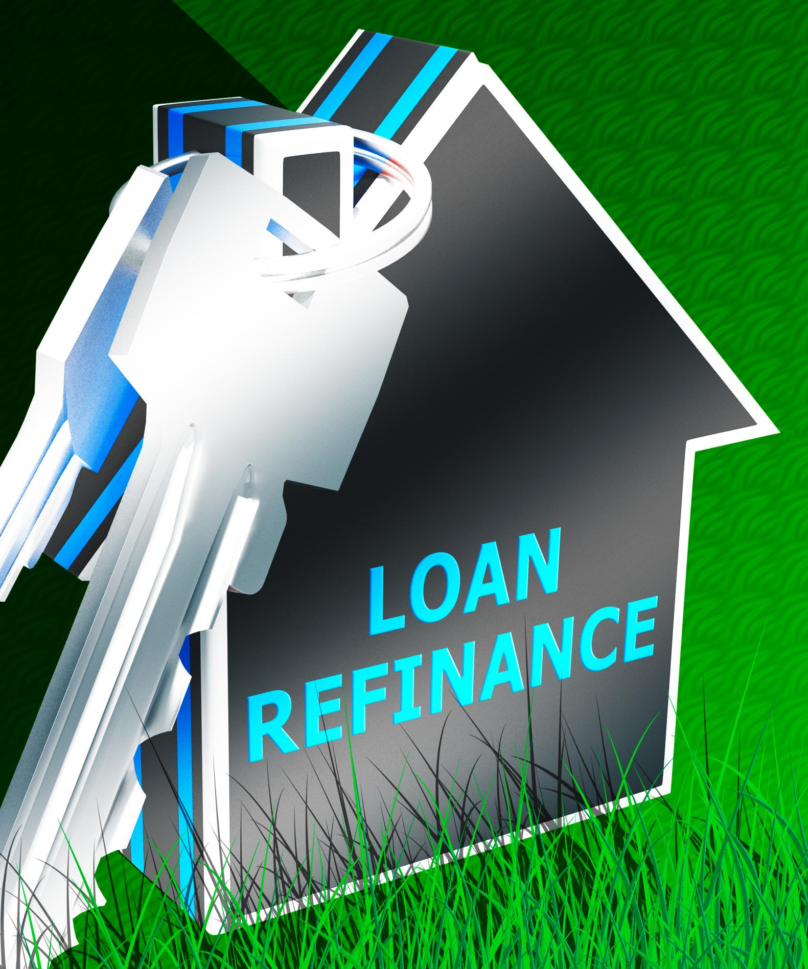 house and keys showing mortgage refinance