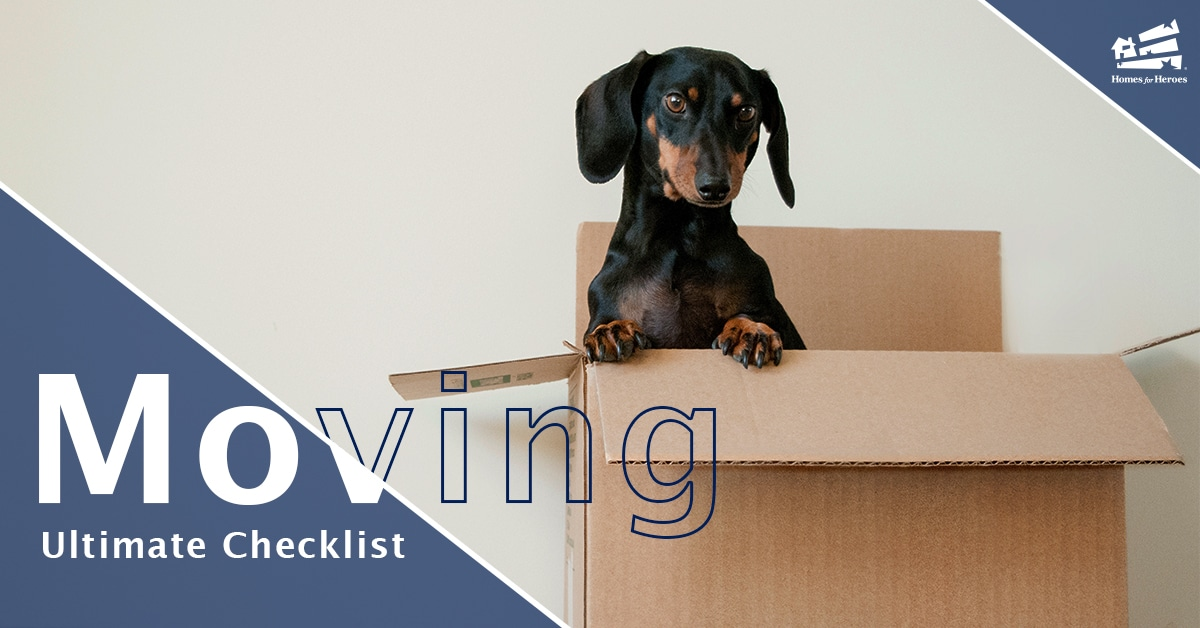 dog in moving box printable moving checklist Homes for Heroes