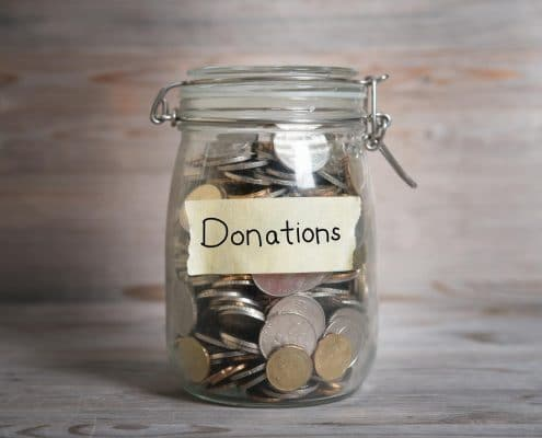 money jar to give to charity