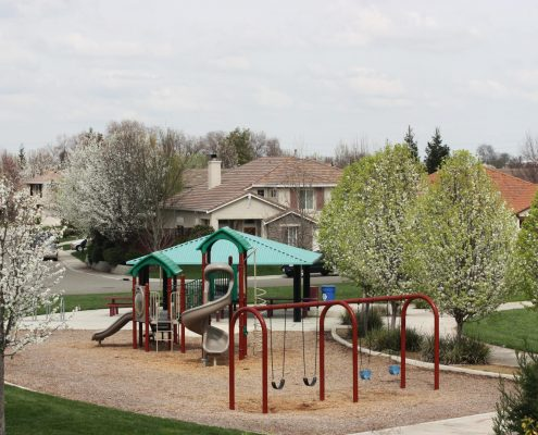 playground in new neighborhood for military families