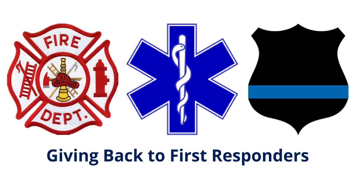 Giving Back First Responders EMS Star of Life Fire Dept Thin Blue Line Badge