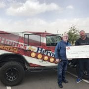 Homes for Heroes, Affiliate Specialist, Chris Fisher presents Call For Backup with $5,000 grant on behalf of the Homes for Heroes Foundation