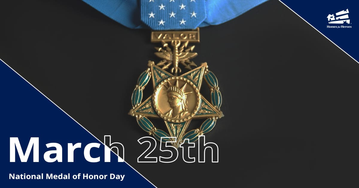 National Medal of Honor medal with word valor on clasp