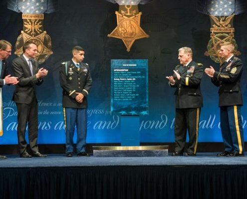 Medal of Honor Recipient Joins Pentagon's Hall of Heroes
