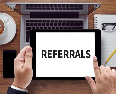 referrals from friends and family