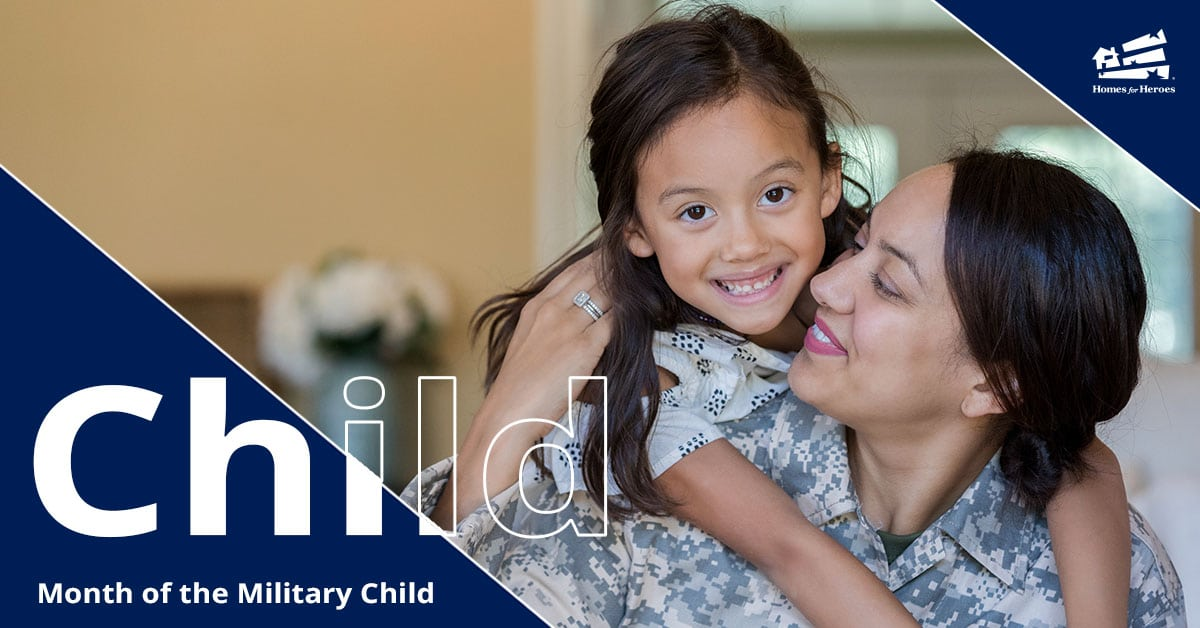 Little girl hanging on the shoulder of her mom who is wearing military camo uniform