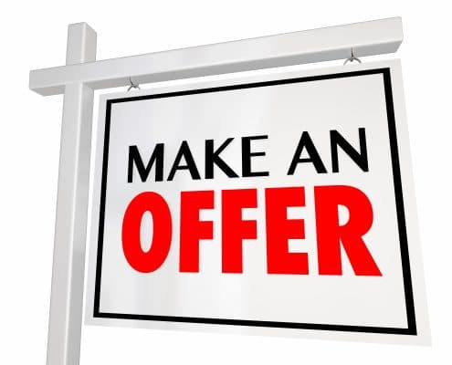 Make an Offer with earnest money
