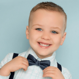Child with bowtie