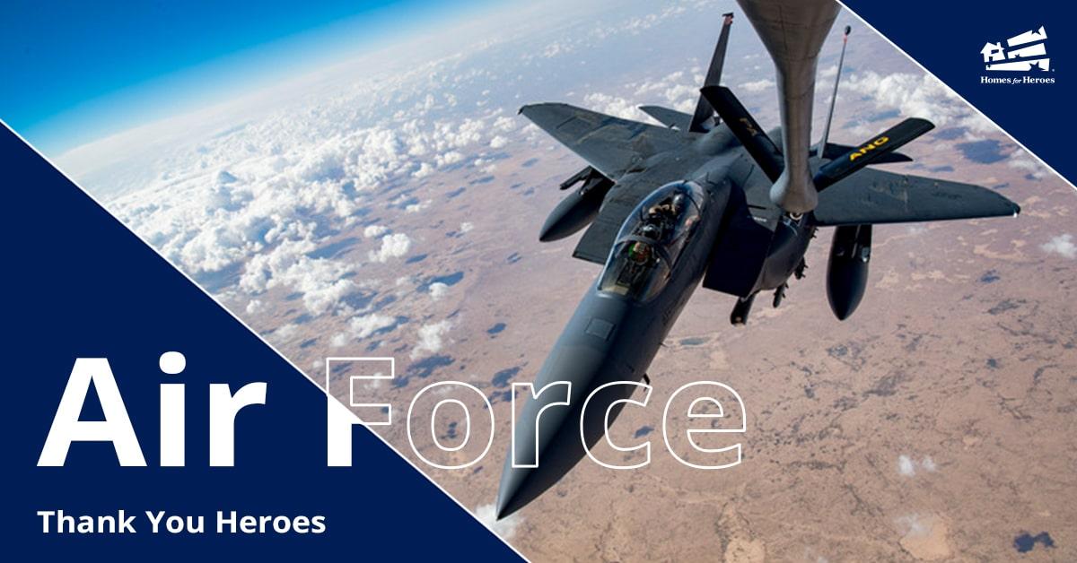 United States Air Force plane flying above desert
