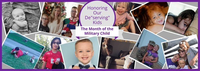 Military Child Contest Banner