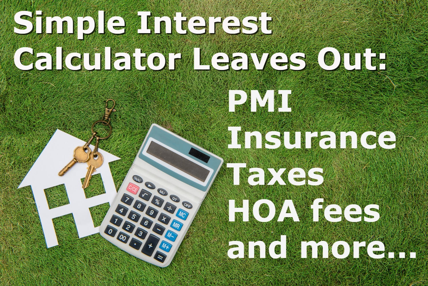can a simple interest calculator be used for a mortgage hfh