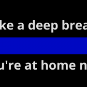 Words with thin blue line