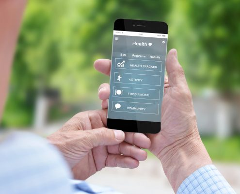 medical app on phone