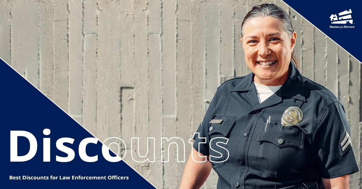 Female law enforcement professional smiling in uniform