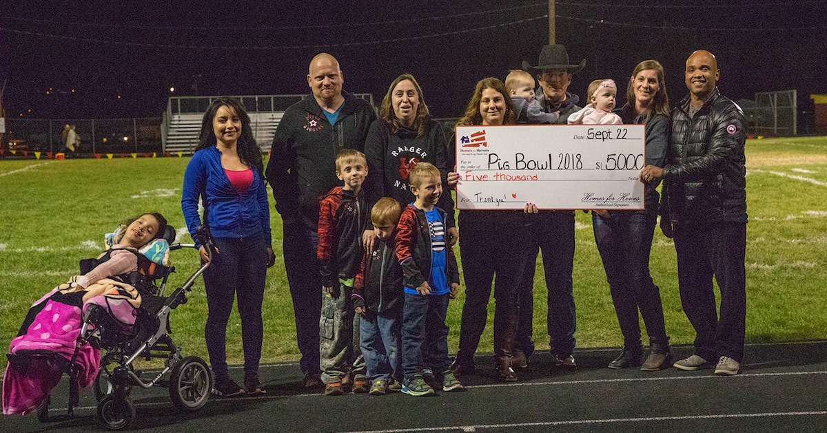 Mid Columbia Pig Bowl Homes for Heroes Foundation 5000 Grant