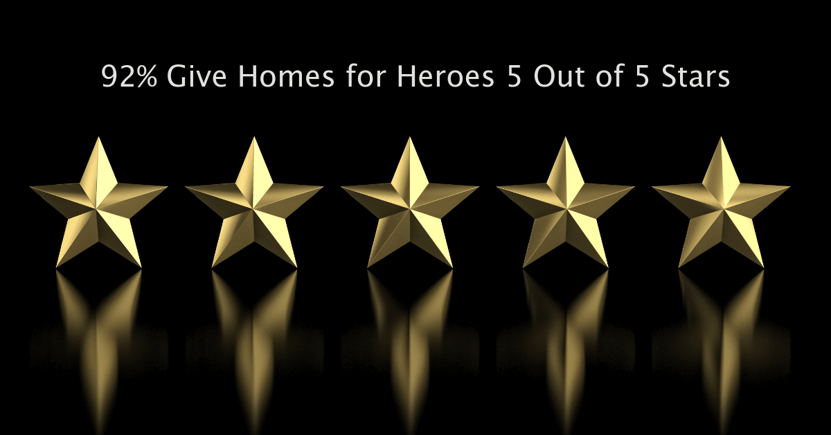 92 percent of heroes give homes for heroes 5 star rating on their home buying process