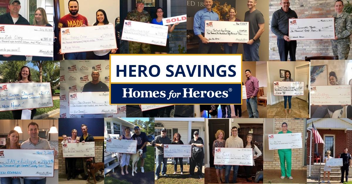 Homes for Heroes-hero savings-heroes holding Hero Rewards Checks