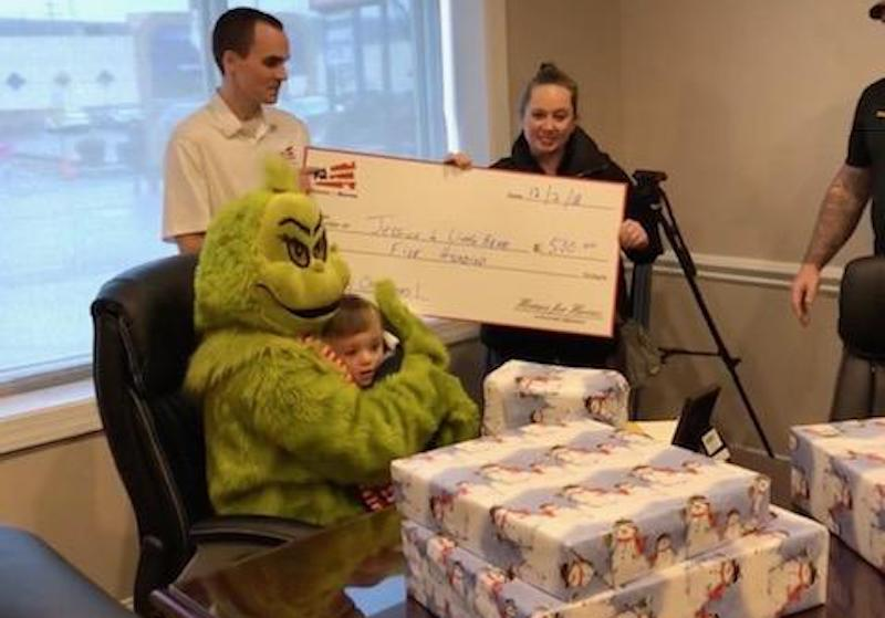 Jessica and Michael Receive Snow Forge Christmas Miracle Gifts from Homes for Heroes