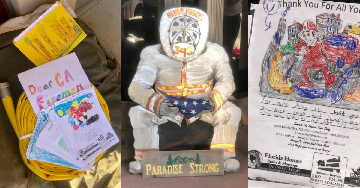 IAFF Disaster Relief Fund Paradise Strong Camp Fire CalFire Firefighter Letters Florida Students Homes for Heroes