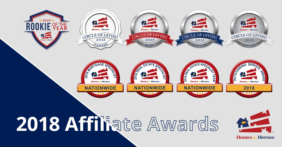 2018 Homes for Heroes Affiliate Awards Logo Collage