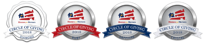 2018 Homes for Heroes Circle of Giving Award Logo Banner