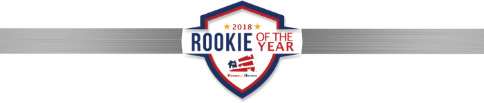 2018 Homes for Heroes Rookie of the Year Affiliate Award Logo Banner