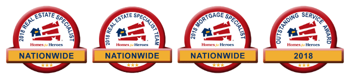 2018 Homes for Heroes Top Affiliate Outstanding Service Award Logo Banner