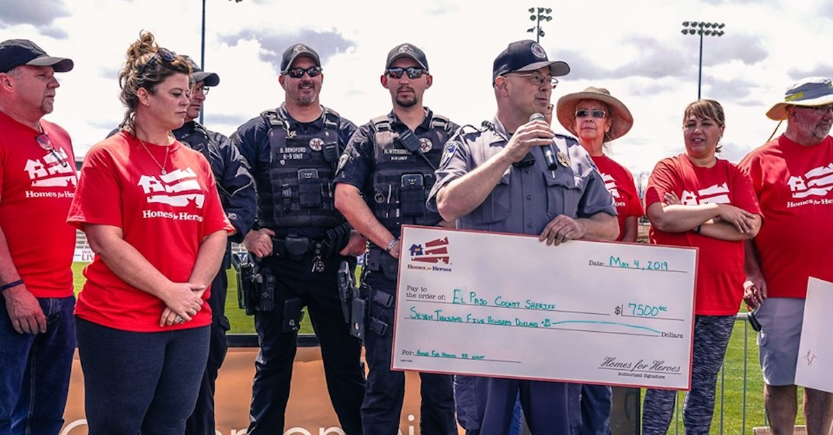 El Paso County Sheriff Homes for Heroes 7500 Donation 5.4.19