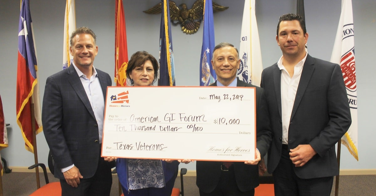 10000 Homes for Heroes Foundation Grant American GI Forum National Veterans Outreach Program NCHV 2019 Military Appreciation Month