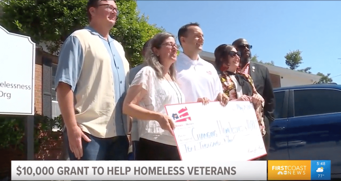 10000 Homes for Heroes Foundation Grant Changing Homelessness Inc NCHV 2019 Military Appreciation Month