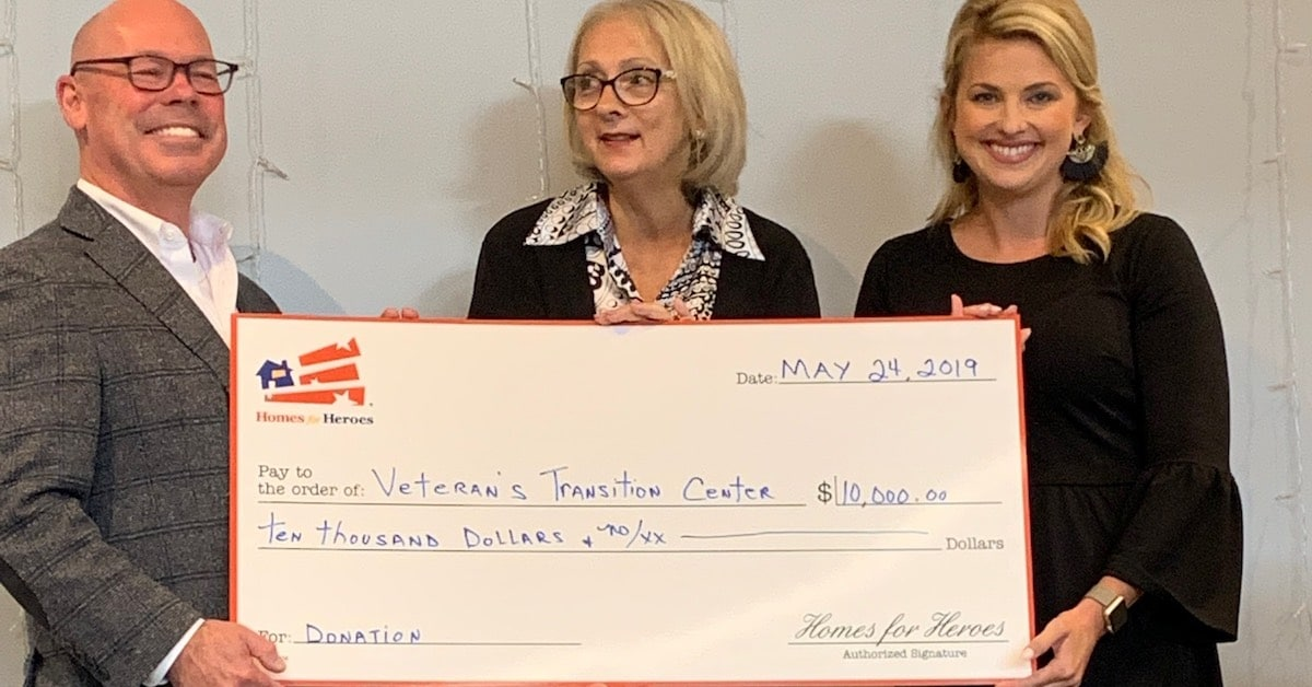 10000 Homes for Heroes Foundation Grant Veterans Transition Center NCHV 2019 Military Appreciation Month