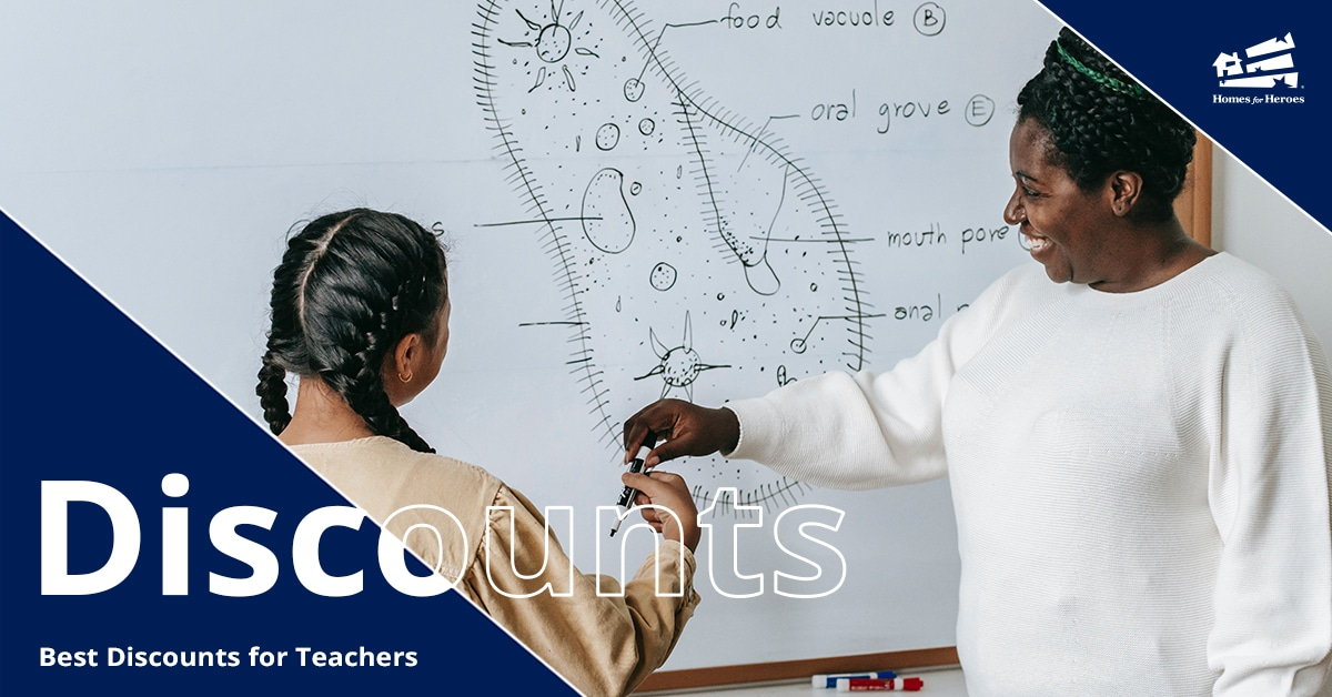 Teacher and a student are at a whiteboard handing the marker to each other with a drawing of a cell on the board behind them.