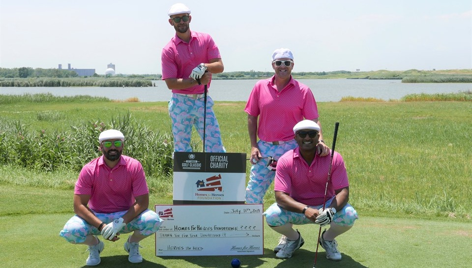 Men in Pink Chicago Realtors Association Golf Classic Charity Event