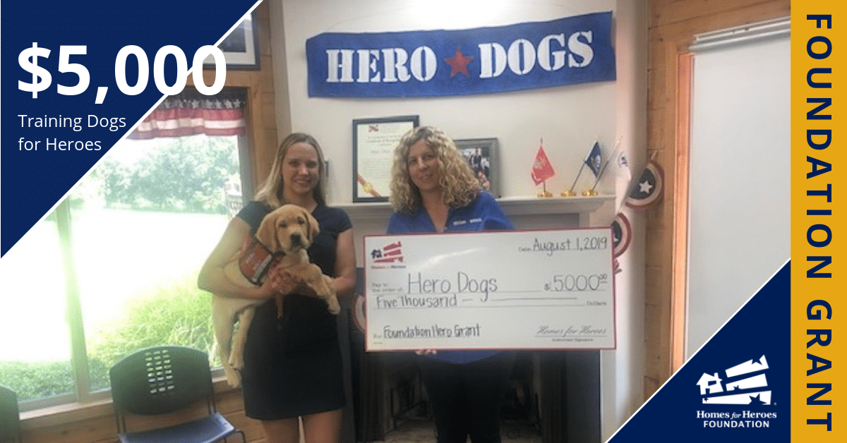 Hero Dogs 5000 Homes for Heroes Foundation Grant