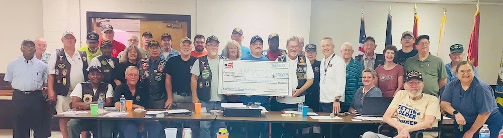 AMVETS Tennessee Post 1776 Group Photo 5000 Homes for Heroes Foundation Check Presentation